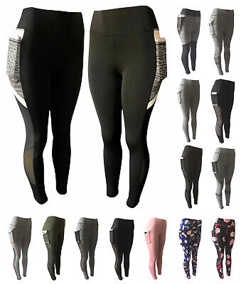 Women Compression Fitness Leggings Running Yoga Gym Pants Workout Active Wear
