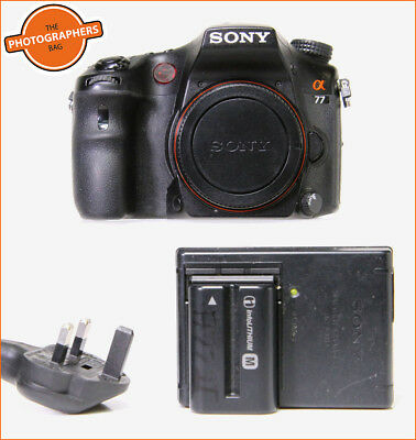 Sony Alpha A77 DSLR SLT Camera Body,Battery,& Charger  Free UK PP
