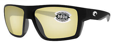 fbdf60f8c8 Costa Del Mar Bloke Black Gray Sunrise Silver Mirror 580G Glass Polarized  Lens