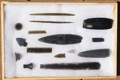Pre Columbian Obsidian Collection, Aztec, Mezcala, Olmec, Aztec, Maya, Mexican