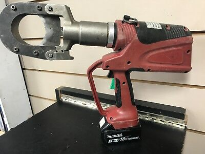 Burndy Patcut245-Li Hydraulic Cable And Wire Cutter & Battery