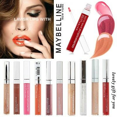 Maybelline Color Sensational Cream Shine Lip Gloss Choose 15 Variations 6.8ml