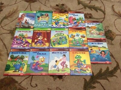 Lot Of 14 Leap Frog Leap Reader Interactive Books Tag Early Reading Series
