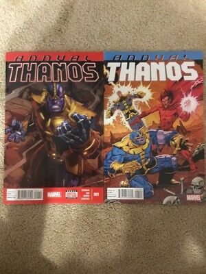 Marvel Thanos Annual 1 *2014* Lot Of 2 With Variant