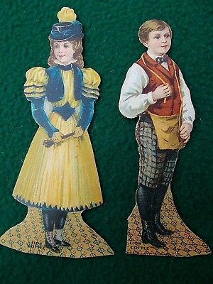 Wonderful collection of trade cards  [ lot of 5 ]  c. 1900