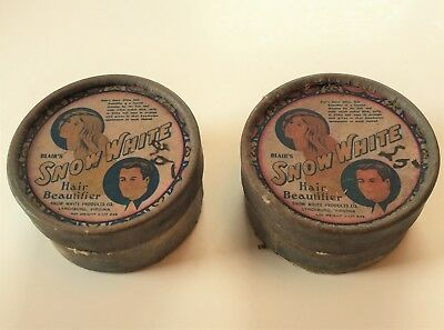 Lot of 2 Vintage Blair SNOW WHITE Hair Beautifier in Cardboard Containers