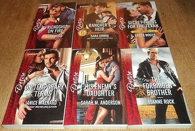"JULY 2018 - HARLEQUIN ""DESIRE"" ROMANCE BOOKS - Lot of 6 Great Sexy Reads!!!"