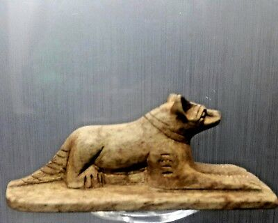 ANCIENT EGYPTIAN EGYPT statue Anubis as form dog  600 BC