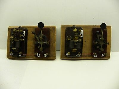 1930s Central Scientific Telegraph Key & Sounder (Set of 2 by Signal Electric)