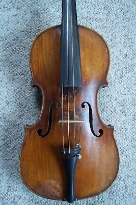 Antique David Tecchler Violin Full Size & Unique Case
