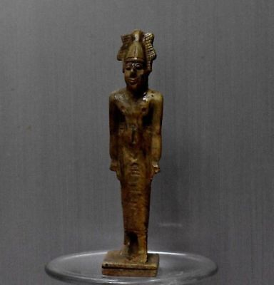 ANCIENT EGYPTIAN EGYPT stone Osiris statue (1500–300 BC)