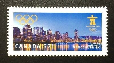 Canada #2368i Die Cut MNH, Vancouver Olympic Winter Games - Vancouver Stamp 2010