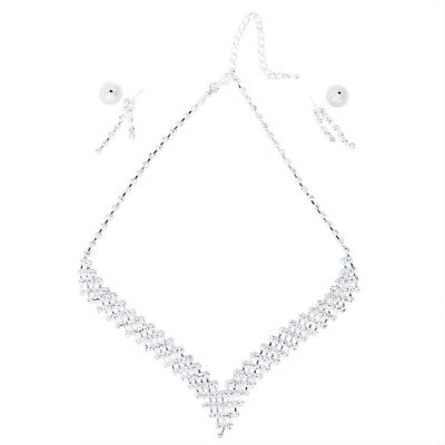 Bridal Necklace Earring Jewelry Set for Wedding/Engagement/Prom M5O1
