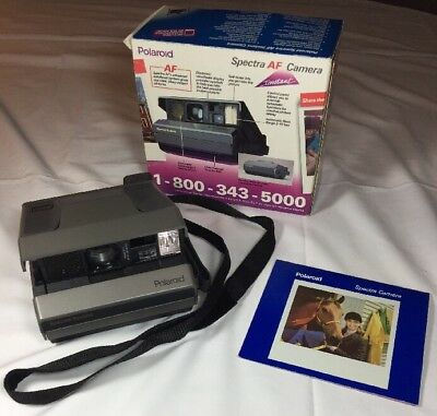Polaroid auto focus Spectra System AF camera ~ Strap ~ Instructions ~ Tested