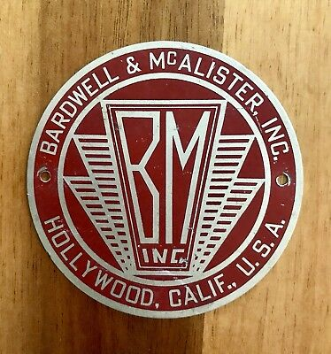 Vintage Bardwell & McAlister Inc Hollywood Nameplate Logo For Spotlight 1930-40s