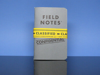 New Field Notes Confidential Classified Loot Crate Two Pack Memo Books Collector