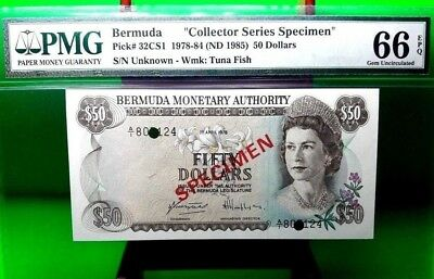 Money Bermuda $50 Dollars 1978 Specimen Gem Unc Pick # 32Cs1