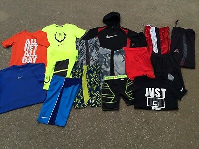 Boys Nike Jordan Under Armour Lot 8 Small Pants Shorts Shirts Hoodie Athletic