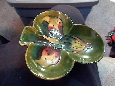 Clover Shaped Moorcroft Dish - 5 1/4 Inches