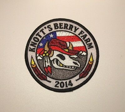 "Knotts Berry Farm 2014 Theme Park Rollercoaster Approx 3.5"" Round Patch"