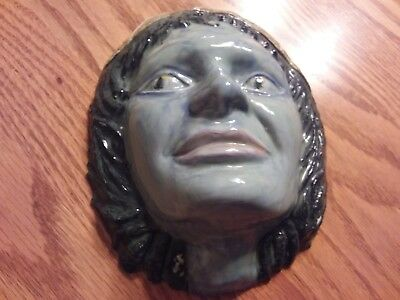 Vintage Ceramic Face Mask - And She Came From The Forest ...