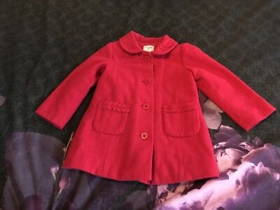 Girls Origami Red Coat Size 2