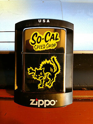 So-Cal Speed Shop Discontinued 2004 Cat Logo Zippo Lighter Never Fired ~NEW ~