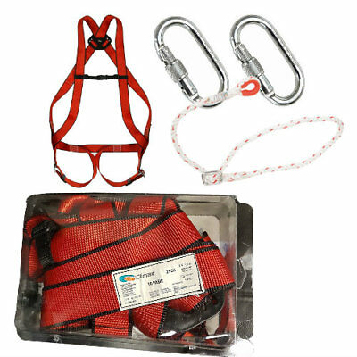 Fall Arrest Full Body Protection Work at Height Climbing Safety Harness Kit