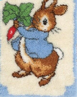 Peter rabbit latch hook kit cushion