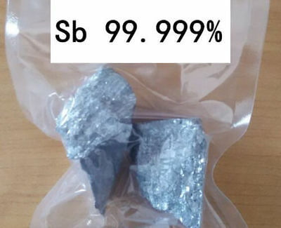 100g 3.52 oz High Pure Purity 99.99% Antimony Sb Metal Lumps Block