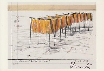 "CHRISTO --- ""The Thousand Gates"" - original signiert - 6#2tg51a"