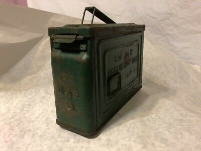 Vintage Original WW2 CANCO 30 Cal M1 Ammo Ammunition Box Can Flaming Bomb WWII