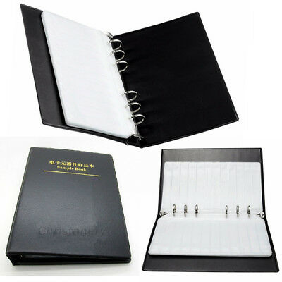 20 Pages SMD SMT Resistor Capacitor Assortment Electronic Components Sample Book