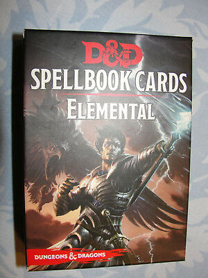 Spellbook-Cards-Deck Dungeons und Dragons, Elemental  NEU