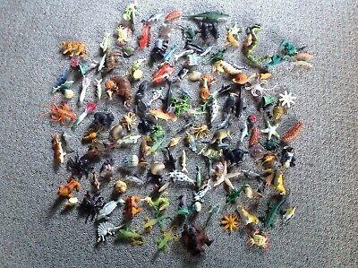 Bulk lot of miniature toy animals x145 NOW WITH FREE EXPRESS POSTAGE