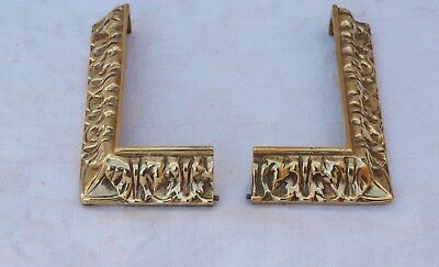 Left & Right Brass Furniture Or Clock Decoration Mount Plinth Finisher Strips