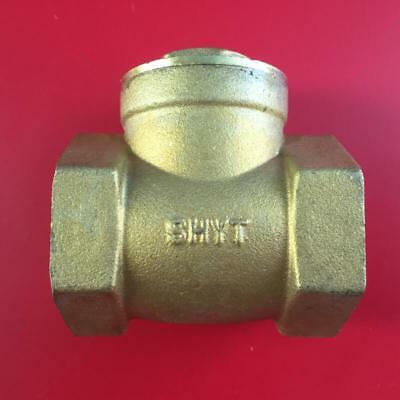 "BSP Brass Swing Check NON-Return Valve Female-Female 1/2""-2"" For Water Oil"