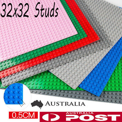 2x Large 32x32 Studs 25.6x25.6cm BASE PLATE Compatible Construction Block AU