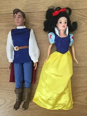 DISNEY SNOW WHITE AND SEVEN DWARFS DOLL And Snow White Prince