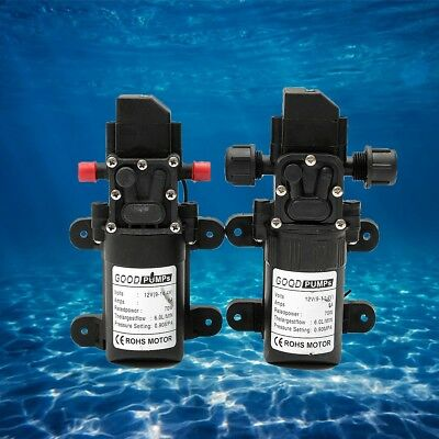 12V 130PSI 6L/Min High Pressure Diaphragm Water Pump 70W RV Caravan Boat Garden
