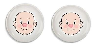 """2 Wooly Willy Children's 8.5""""  Plates. Play with Your Food!"""