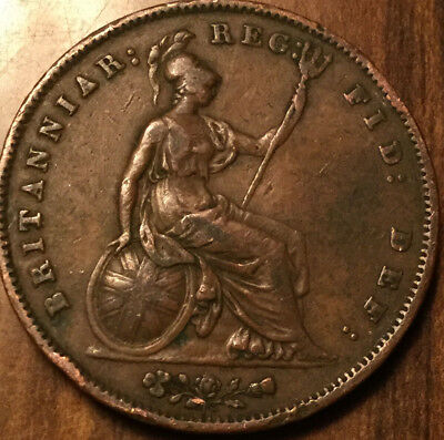1858 UK VICTORIA ONE PENNY - Good example !