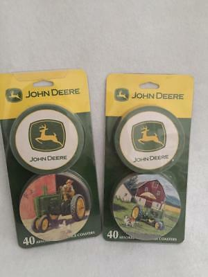 John Deere Licensed Beverage Coasters—80 Total—2 Packs of 40 Each