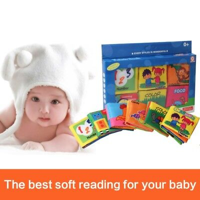 Kid Baby Intelligence Development Soft Cloth Bed Cognize Book Educational Toy US