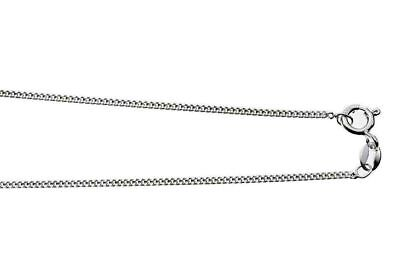 "SALE ** BEAUTIFUL SOLID SILVER DIAMOND CUT CURB CHAIN - 24"" x 1mm **"