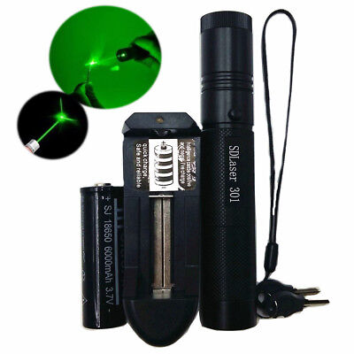 Military 5MW 532NM Laser Pointers Lazer Pen Beam Burn Zoom 18650 Battery Charger