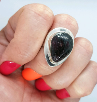 Eudialyte Gemstone Ring, Size 8 US, 925 Sterling Silver, purpose