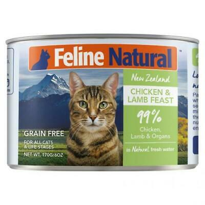 NEW Feline Natural Grain Free Canned Cat Food - Chicken and Lamb