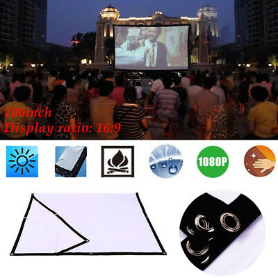 Thick Polyester 16:9 Movie Screen Projector Cloth Screen Portable