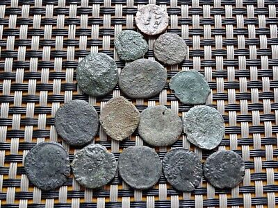 Lot Of 15 Ancient Roman And Byzantine Bronze Coins Unknown   (6)